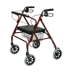 Adult walker rollators for rent or hire in Barcelona.